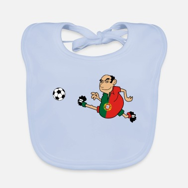 Portugees Voetbal Portugees - Bio-slabbetje voor baby's