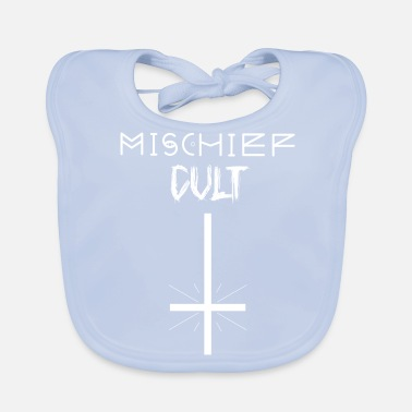 Mischief Mischief Cult | Upside Down Cross Design | Occult - Baby Organic Bib