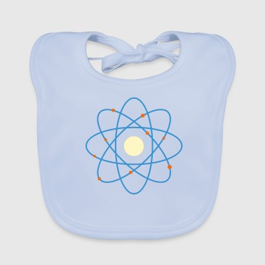Our Block Atom building block of matter - Baby Organic Bib