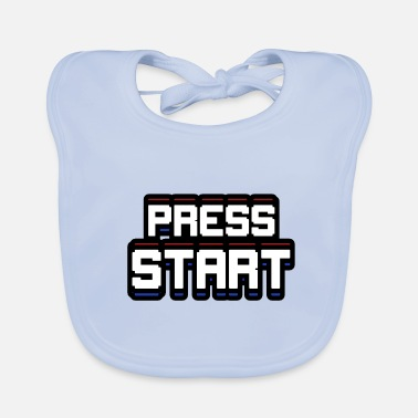 Start Press START - Bavoir Bébé