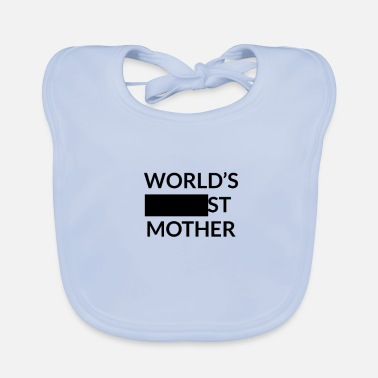 Blank Gift for Worlds Blank Mother - Baby Organic Bib