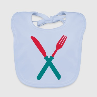 fork_and_kinfe - Bio-slabbetje voor baby's