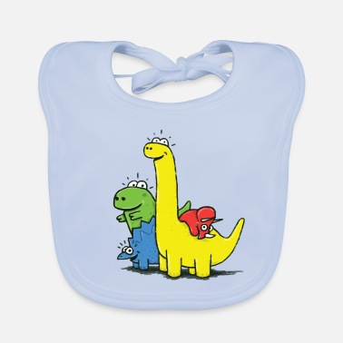 Collections Dino Gang, Colored - Baby Organic Bib