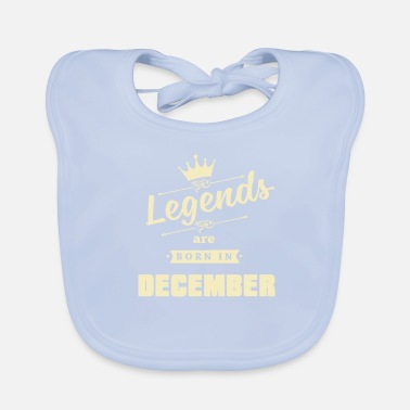 Flicknamn Legends föds i december - Ekologisk babyhaklapp