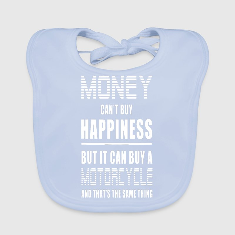 Money Can't Buy Happiness, But Motorcycle - Baby Organic Bib