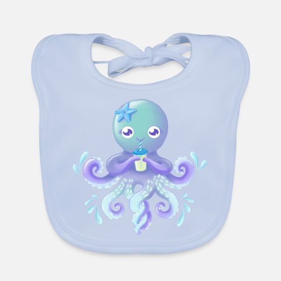 Summer Baby Clothes - OctoCute edition 2018 - Baby Bib sky blue