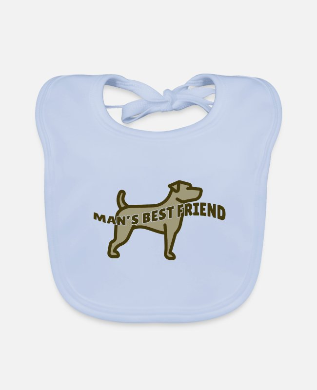 Doggie Baby Bibs - Dog - Mans best friend / dog - Baby Bib sky blue