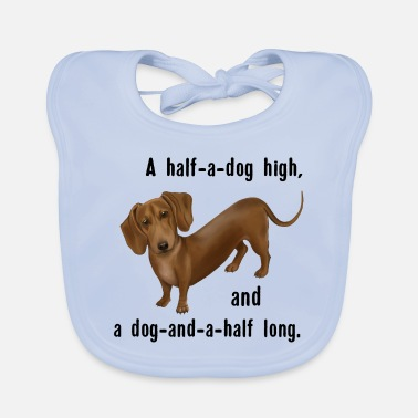 Hund - Dachshund And and a half dog - Baby Bib