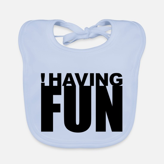 Provocation Baby Clothes - Having Fun (not) - Baby Bib sky blue