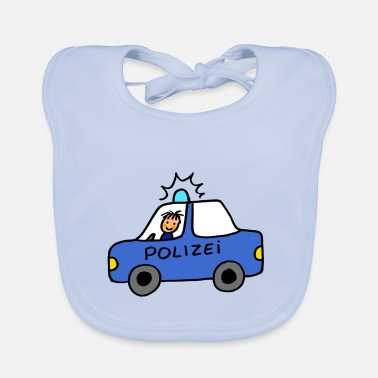 Hand painted, cool police car for boys - Baby Bib