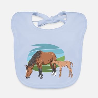 Foal Mare and Foal - Baby Bib