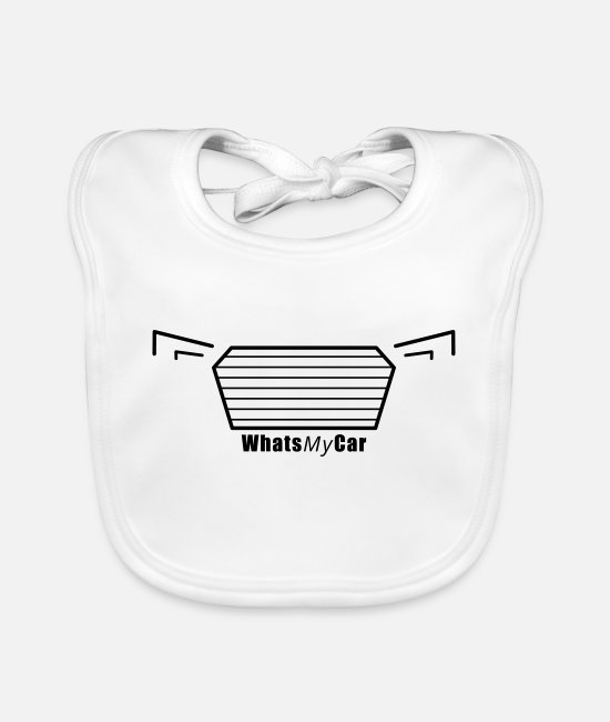 Cooler Baby Bibs - WhatsMyCar A4 - Baby Bib white