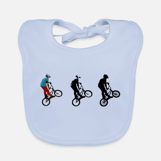 Bicycle Baby Clothes - bmx - Baby Bib sky blue