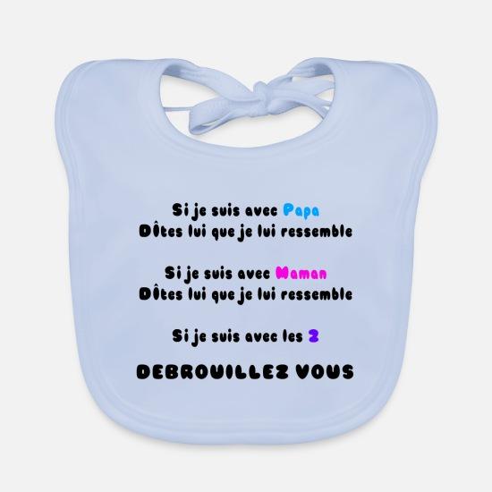 Bavoir PARFAIT DE P/ÈRE EN FILS BLEU Bavoir imprim/é en France Bavoir 100/% coton de qualit/é