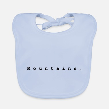 Mountains. Design 1 by PLYmyART - Baby Bib