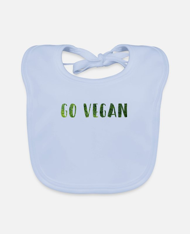 Bless You Baby Bibs - Go Vegan - Baby Bib sky blue