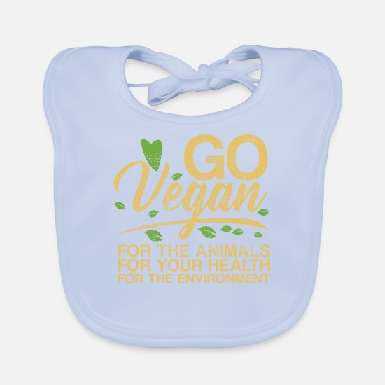 Men's Baby Clothes - Vegan Diet Food Tofu - Baby Bib sky blue