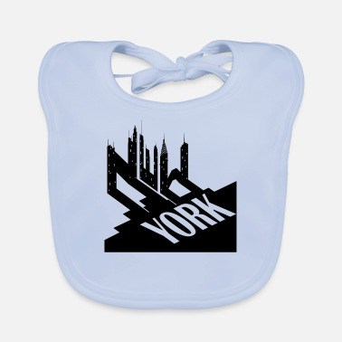New York City Typographic Design For Big Apple - Baby Bib