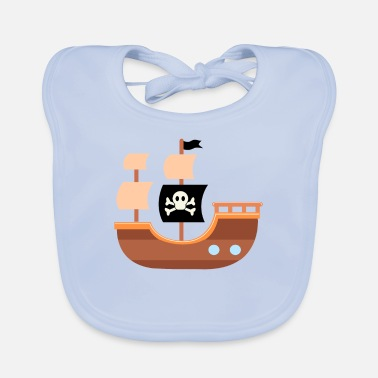 Pirate Ship pirate ship - Baby Bib