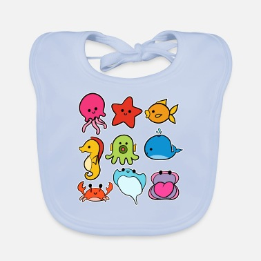 Ocean Animals Sea animals ocean sea animals - Baby Bib