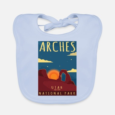 Helped Dome Arches National Park Utah-Hiking Camping Gift - Baby Bib