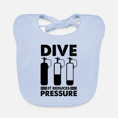 Under Water Diving dive diver diving saying - Baby Bib