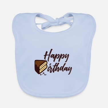 Happy Birthday Happy Birthday Cake - Baby Bib