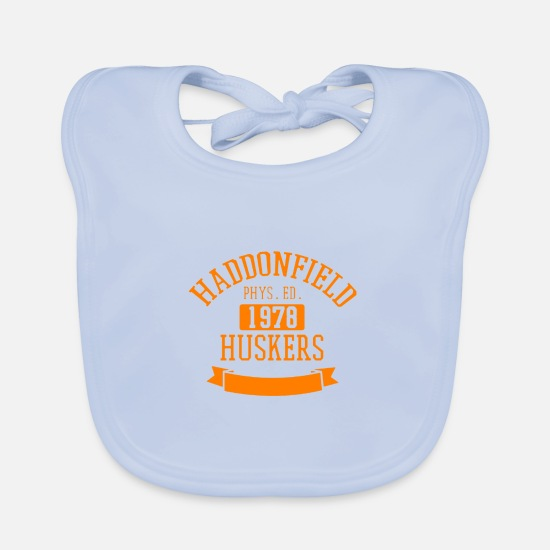 High School Graduate Baby Clothes - Haddonfield High Class of 1978 - Baby Bib sky blue