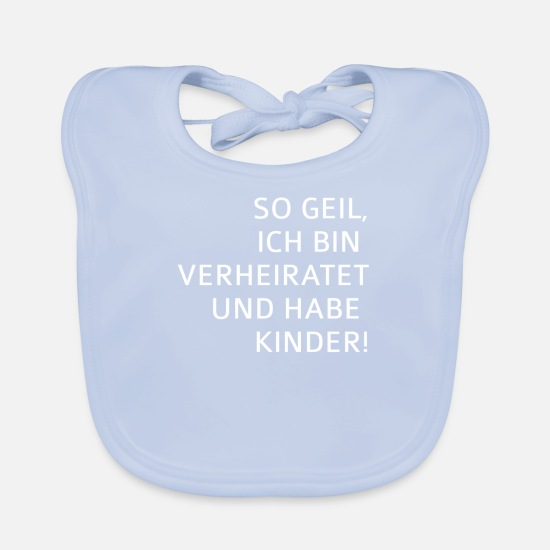 Gift Idea Baby Clothes - Married children - Baby Bib sky blue
