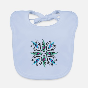 multicolored abstract pattern - Baby Bib