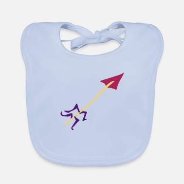 Stag Underwear Symbol - Shooting Arrow - Baby Bib