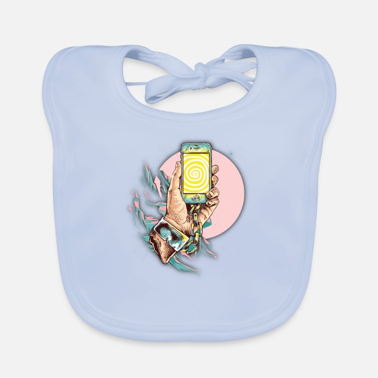 Stylish Baby Clothes - Smartphone photo - Baby Bib sky blue