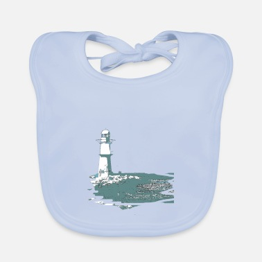Baltic Sea Lighthouse, sea, beach, coast, design, gift, cool, - Baby Bib