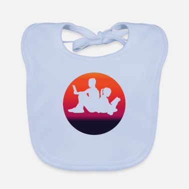 Recreational READING original reading and book fan gift - Baby Bib