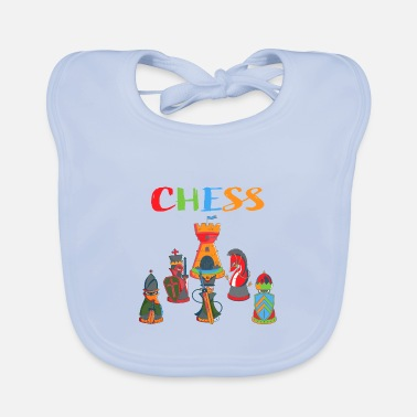 Chess Chess Chess chess pieces - Baby Bib