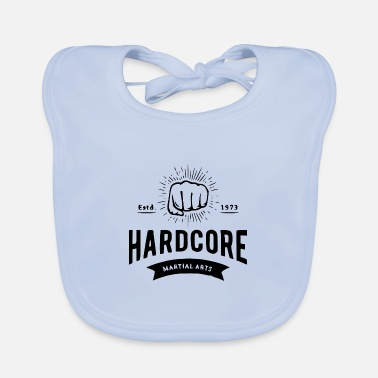 Letter Boxing Boxing fist with lettering boxing fighter - Baby Bib