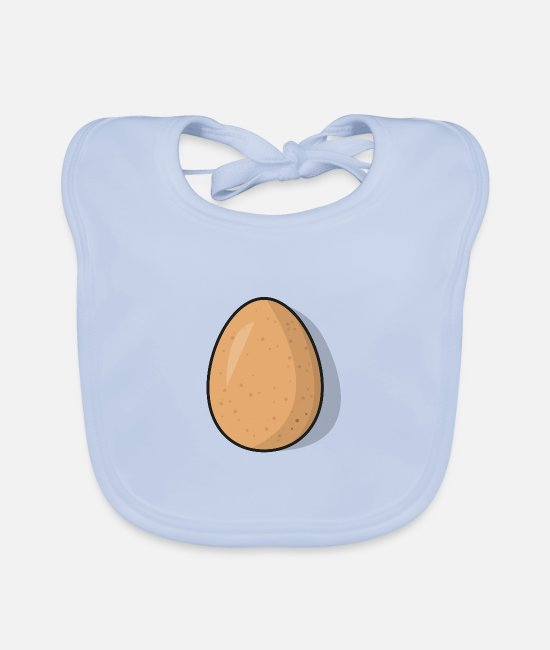 Chicken Coop Baby Clothes - Egg - chicken egg - Baby Bib sky blue