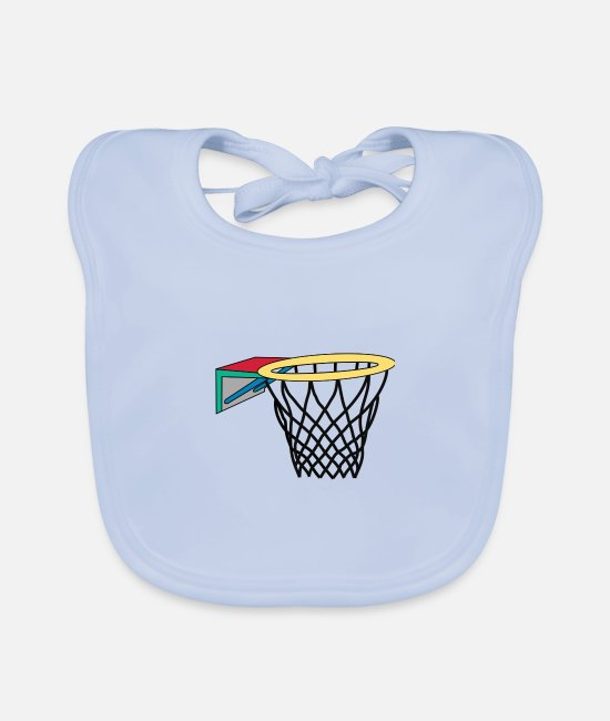 Play Baby Clothes - basketball hoop - Baby Bib sky blue