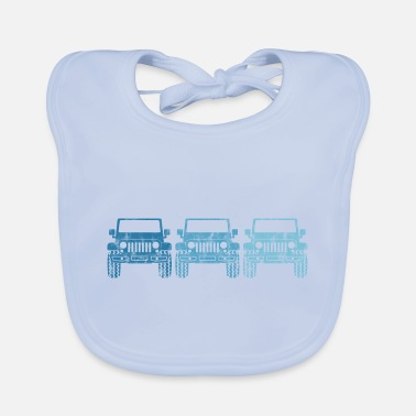 Vintage Car Off-road vehicle offroad 4wd AWD 4x4 4wheeler gift - Baby Bib
