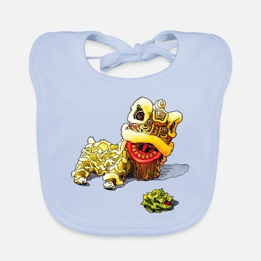 Lettuce Be Happy Lion Dance - Chinese New Year - Baby Bib