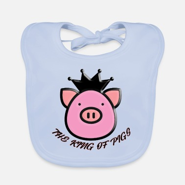 Graphic Art the king of pigs - Baby Bib