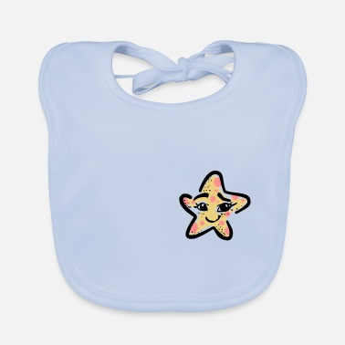 Stars cute little star - funny little star - Baby Bib