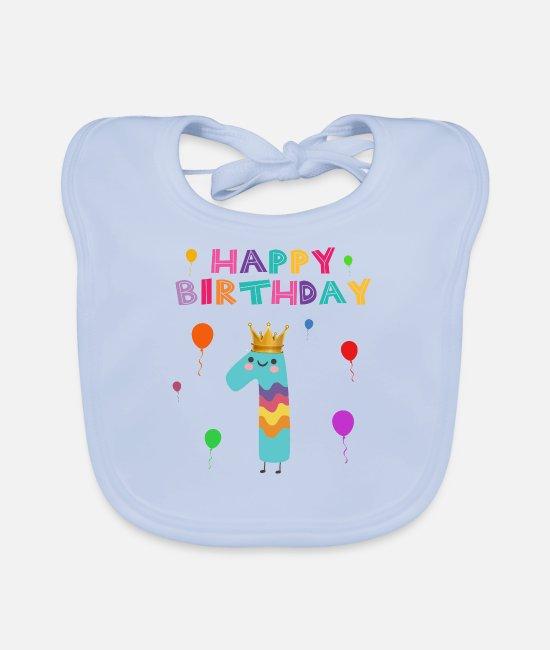 Feliz 1er Cumpleaños Alimentación Del Bebé Babero De Regalo