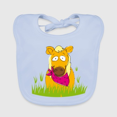 Horse Lina for horse fans :-D - Baby Organic Bib