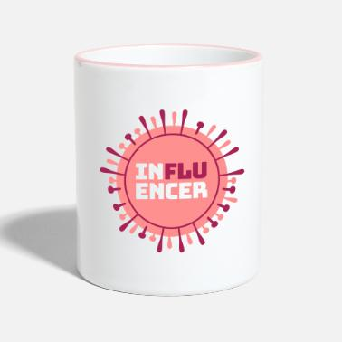 Influenza Influencer hashtag #Influenza Virus Social Media - Two-Tone Mug