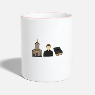 Catholic Catholic catholic priest church christ - Contrasting Mug