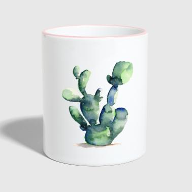 Cactus Watercolor | Greenery Watercolor-editie - Mok tweekleurig