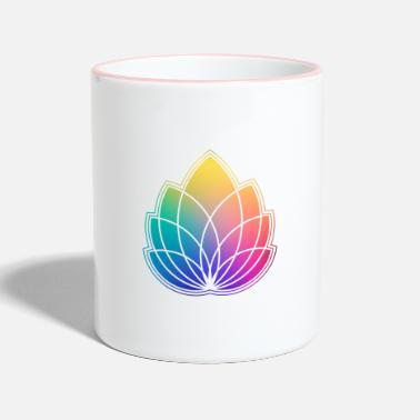 Colorful Abstract Yoga Geometry Blossom / Flower - Mug bicolore