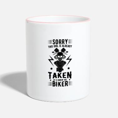 Quote Motorcyclist cool quote - Two-Tone Mug