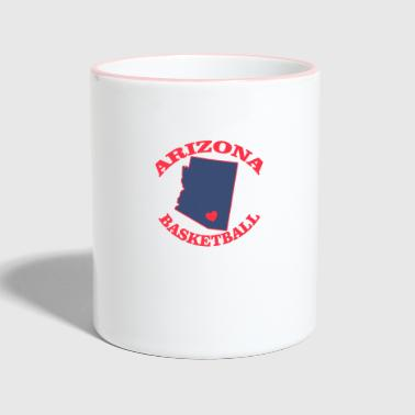 Arizona basketball - Contrasting Mug
